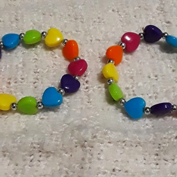 Rainbow Heart Bracelets
